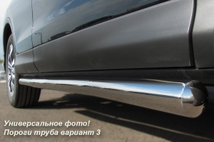 Mitsubishi Outlander 2010 Пороги труба d76 (вариант 3) MNT-0001173